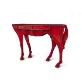 console pure sang elisee mobilier ibride rouge brillant