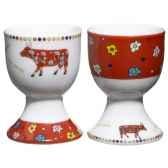 cow parade set 2 coquetier 2 cuilleres coql
