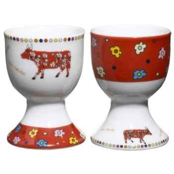 Cow Parade-Set 2 Coquetier + 2 cuillères - COQL