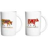 cow parade coffret 4 mugs mugl
