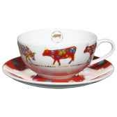 cow parade service de 2 tasses a the tatl