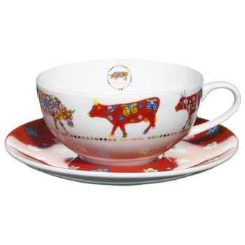 Cow Parade- Service de 2 Tasses à thé -TATL