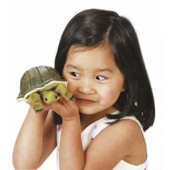 Marionnette à doigt mini peluche tortue folkmanis 2732