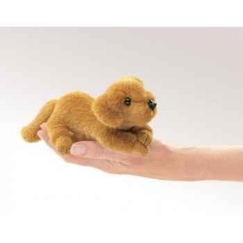 Marionnette à doigt mini peluche chien golden retriever folkmanis 2736