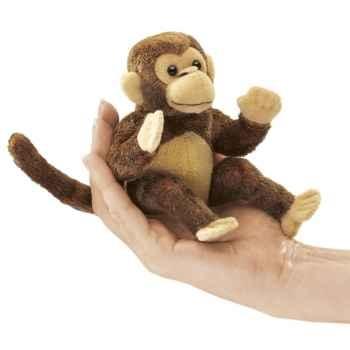 Marionnette à doigt mini peluche singe folkmanis 2738