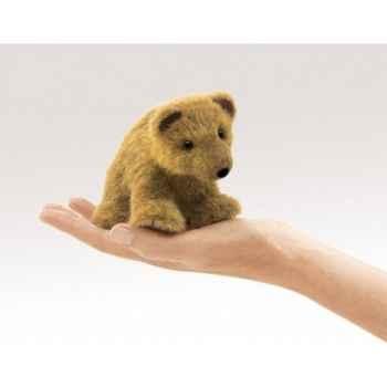 Marionnette à doigt mini peluche ours grizzly folkmanis 2739
