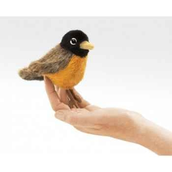 Marionnette à doigt mini peluche oiseau rouge-gorge folkmanis 2742