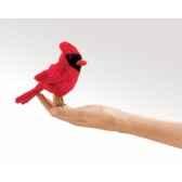 marionnette a doigt mini peluche oiseau cardinafolkmanis 2743