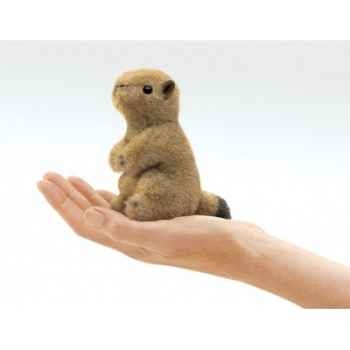 Marionnette à doigt mini peluche chien de prairie folkmanis 2744