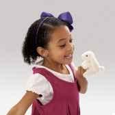 marionnette a doigt peluche lapin belier blanc folkmanis 2745