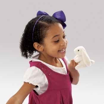 Marionnette à doigt peluche lapin bélier blanc folkmanis 2745