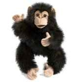 marionnette peluche bebe chimpanze folkmanis 2877