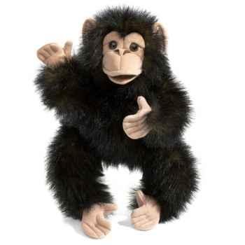Marionnette peluche bébé chimpanzé folkmanis 2877