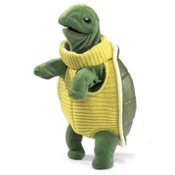 Marionnette peluche tortue turtleneck folkmanis 2881