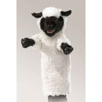 Marionnette peluche mouton tête noire folkmanis 2884
