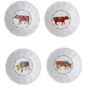 cow parade set de 4 assiettes a aperitif sna l