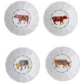 cow parade set de 4 assiettes a aperitif sna l