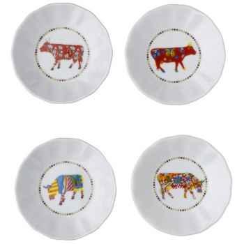 Cow Parade-set de 4 assiettes à apéritif -SNA L