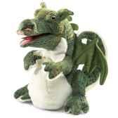 marionnette peluche bebe dragon folkmanis 2886