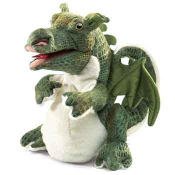 Marionnette peluche bébé dragon folkmanis 2886