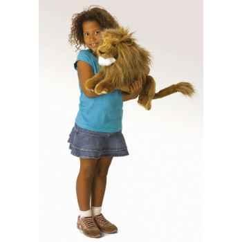 Marionnette peluche lion folkmanis 2889