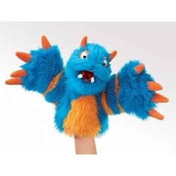 Grande marionnette monstre bleu peluche  folkmanis 2897 folkmanis