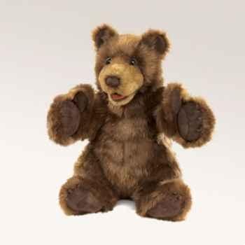 Marionnette peluche  ours brun folkmanis 2905