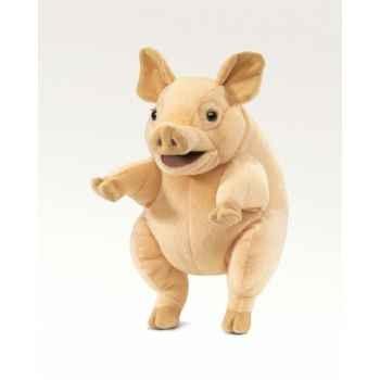 Marionnette peluche cochon folkmanis 2907
