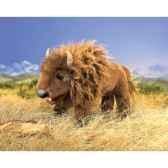marionnette peluche bison folkmanis 2909