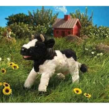 Marionnette peluche  vache noir et blanche folkmanis 2917
