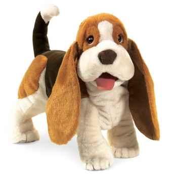 Marionnette peluche  chien basset folkmanis 2919