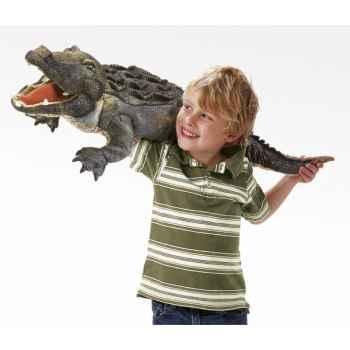 Marionnette peluche  aligator folkmanis 2921