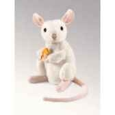 marionnette peluche souris blanche assise folkmanis 2925