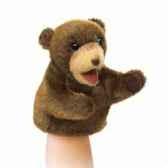 marionnette peluche petit ours brun assise folkmanis 2926