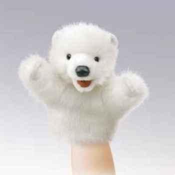 Marionnette peluche  petit ours polaire folkmanis 2934