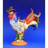 figurine coq poultry in motion western omelet pm16215