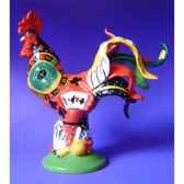 figurine coq poultry in motion roulette rooster pm16287