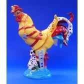 figurine coq poultry in motion firehouse chicken pm16297