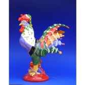 figurine coq poultry in motion egg nog pm16221