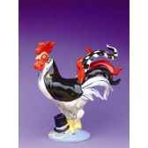 figurine coq poultry in motion cock a doodle groom pm16245