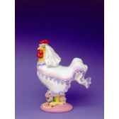figurine coq poultry in motion cock a doodle bride pm16244