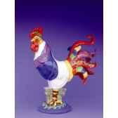 figurine coq poultry in motion chicken caesar pm16236