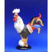 figurine coq poultry in motion bakins et eggs pm16218