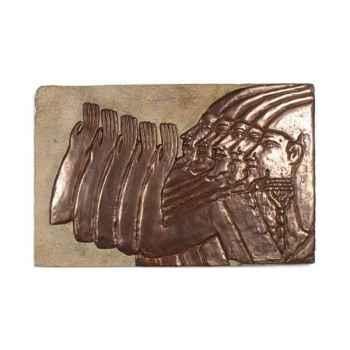 Décoration murale Mesopotamia, grès et bronze -bs2312sa -nb