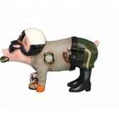 figurine cochon this little piggy pig with donuts tlp16840