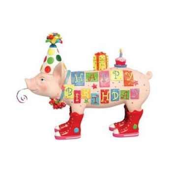 Figurine Cochon - This Little Piggy - Happy Birthday - TLP16834