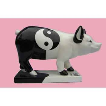 Figurine Cochon - Party Piggies - Ying Yang Jung - PAP11