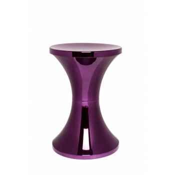 Tabouret tam tam chrome prune Branex Design -15037