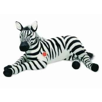 Peluche zebre couché 85 cm hermann 90285 0