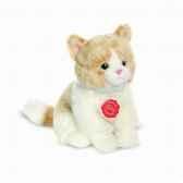 peluche chat beige 20 cm hermann 90684 1